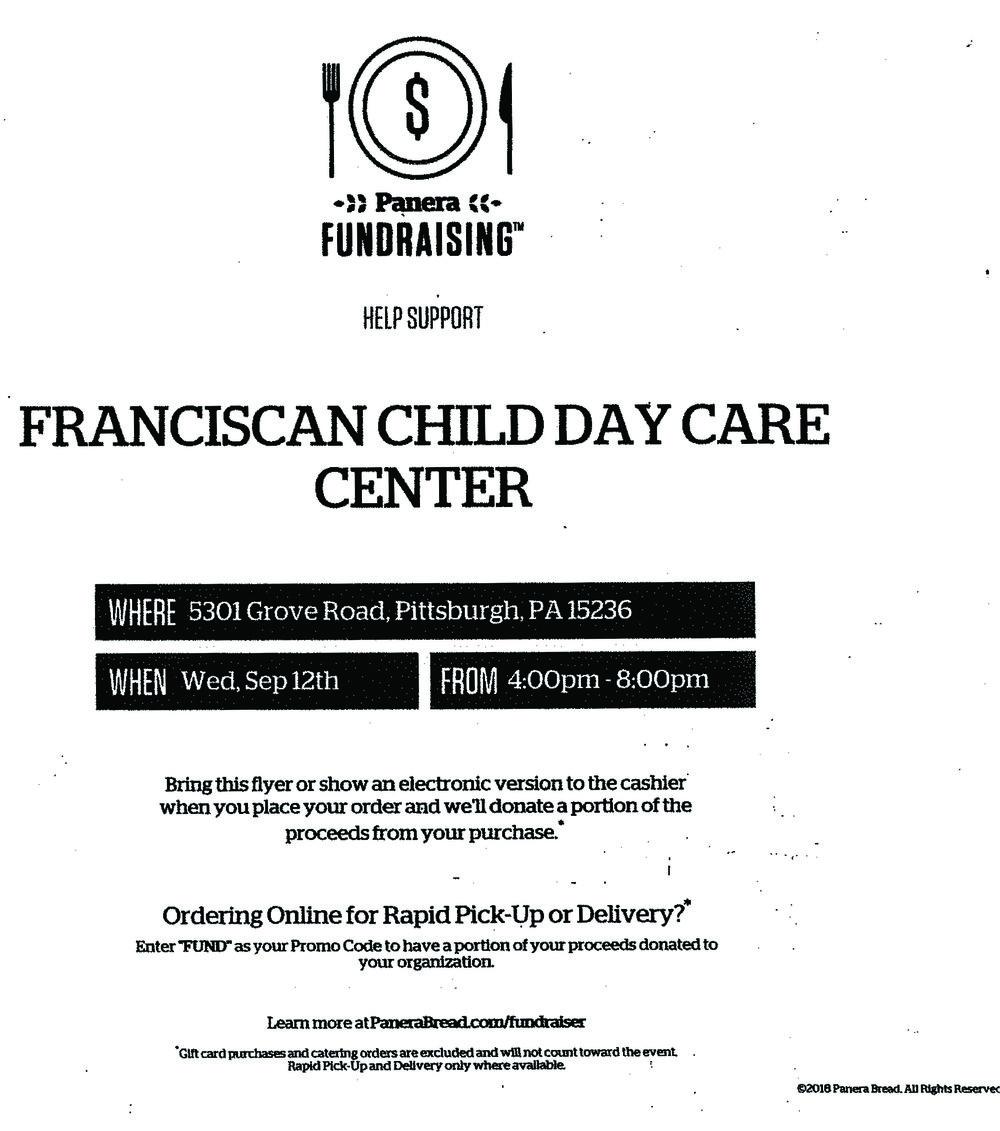 Panera Bread Fundraiser on Wednesday, September 12 — Franciscan ...