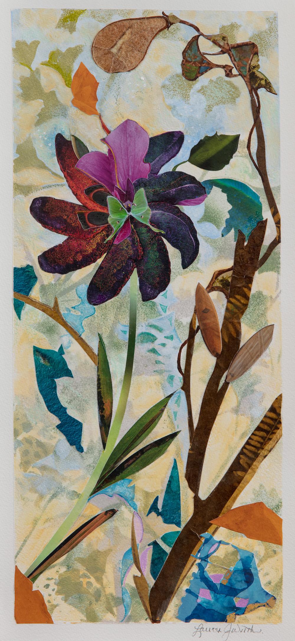 TREE SPIRITS V, 16x8, mixed on paper (2018)