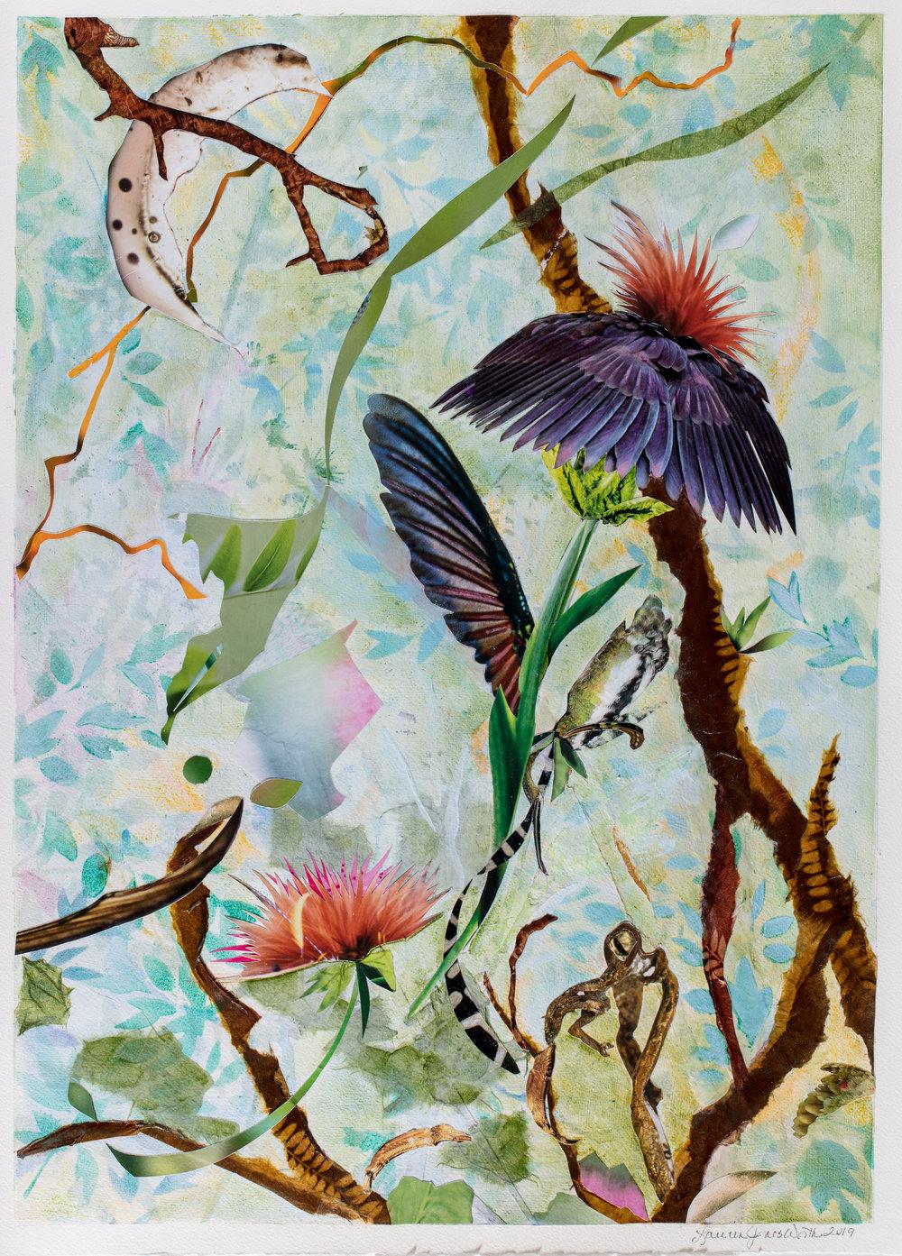 TREE SPIRITS VII, 22x16 on paper (2019)