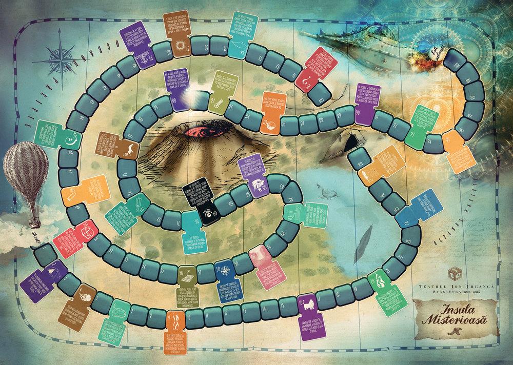 Teatrul Ion Creanga - Insula misterioasa Board Game