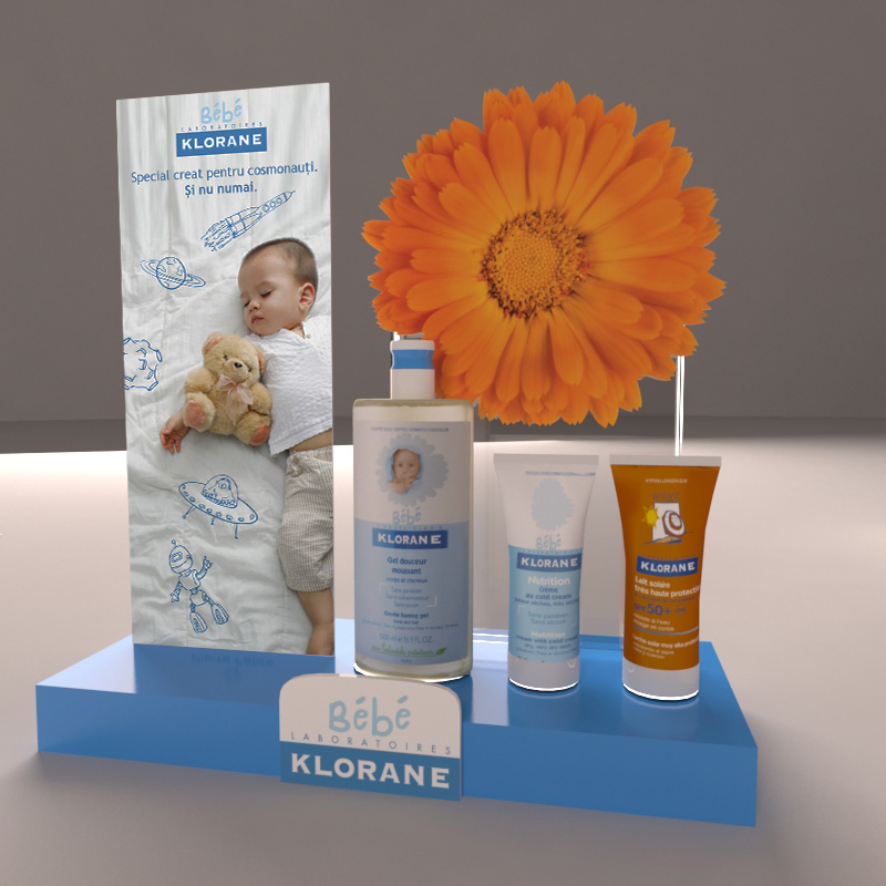 Klorane Bebe Counter Display