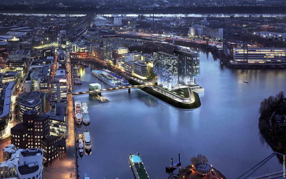 Architekturvisualisierung, Westhafen, Düsseldorf - Kunde: Tenkhoff Properties