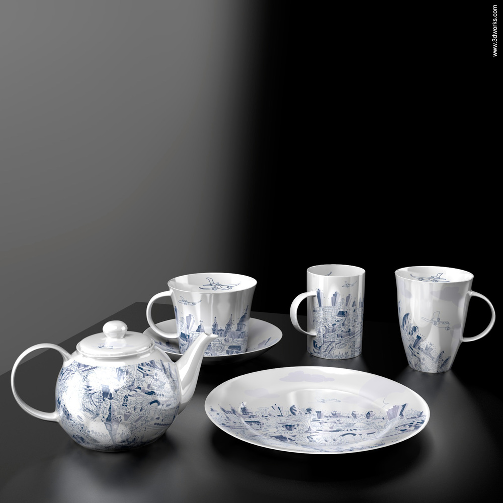 Produktvisualisierung, Bone China Visualisation - Artyglobe Limited / Hartwig Braun