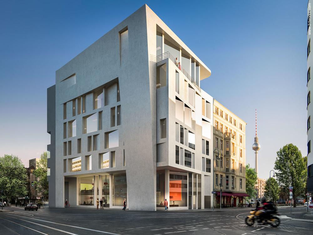 3D Visualisierung, Hotel und Tonstudios, Berlin / Assman Salomon AS