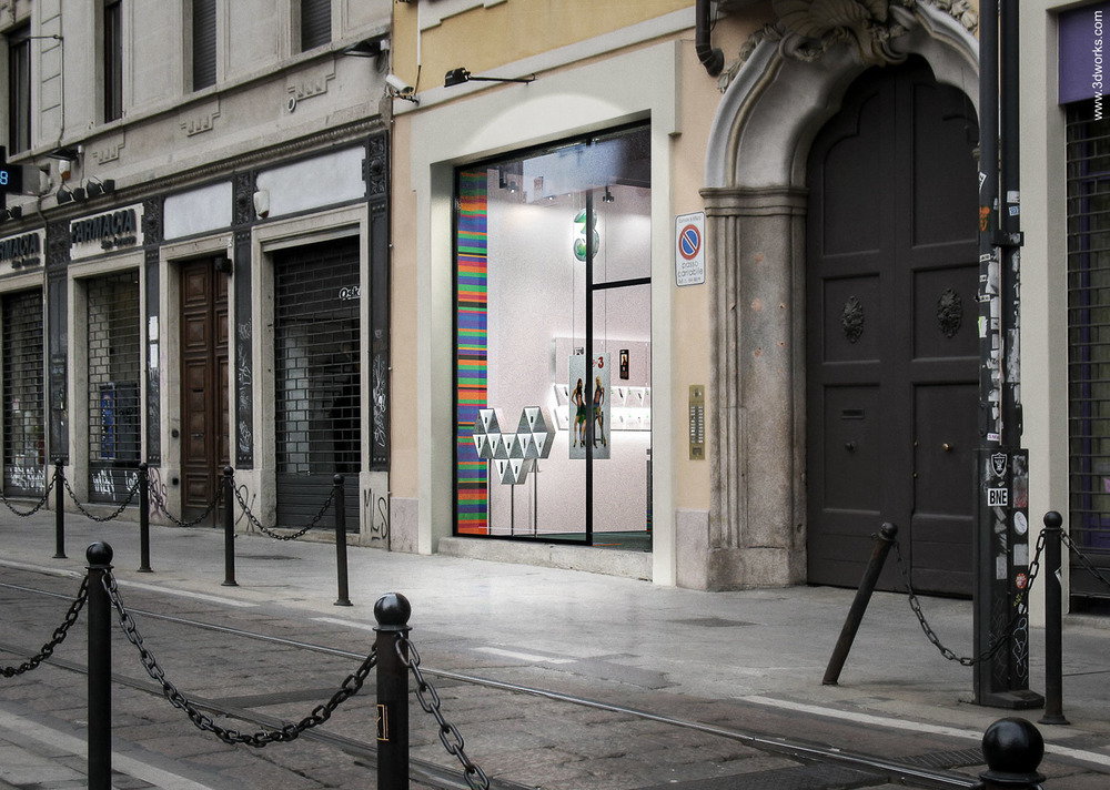 "3D Visualisierung, Shop Design ""3"", Milano / Studio & Partners"