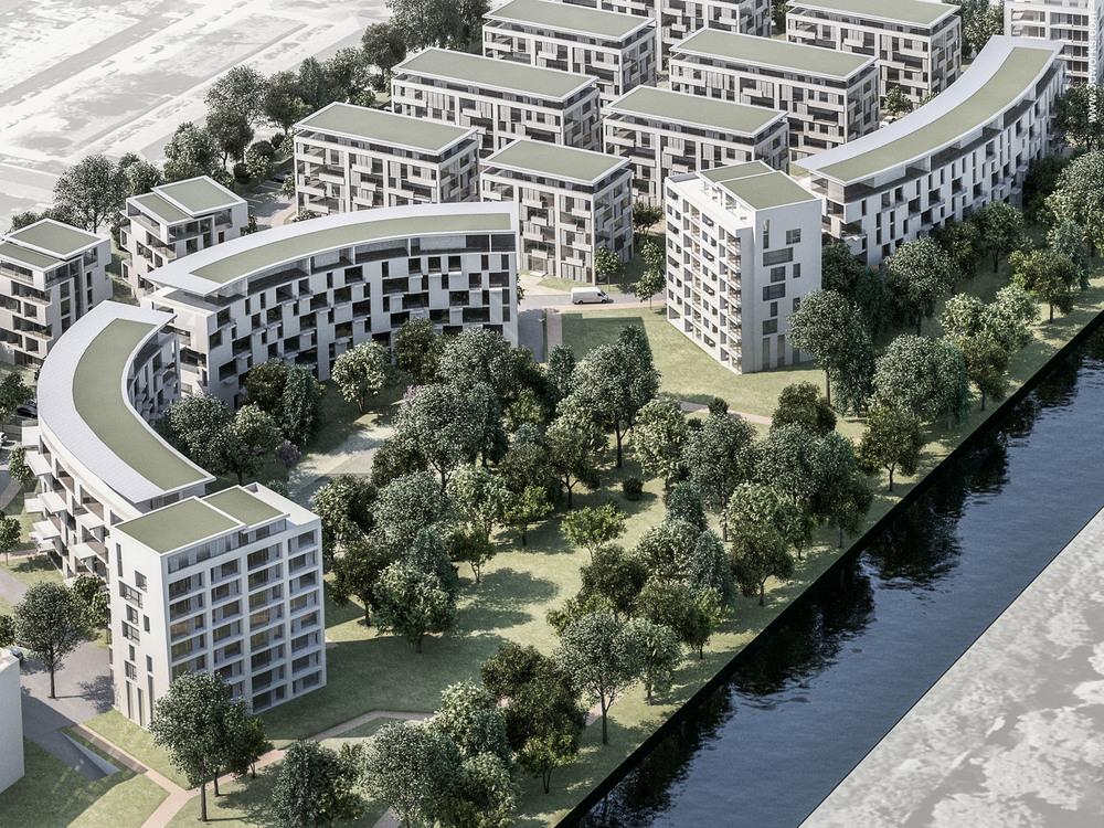 3D Modell, Wettbewerbsperspektive - Vorderwülbecke Gesellschaft von Architekten mbH