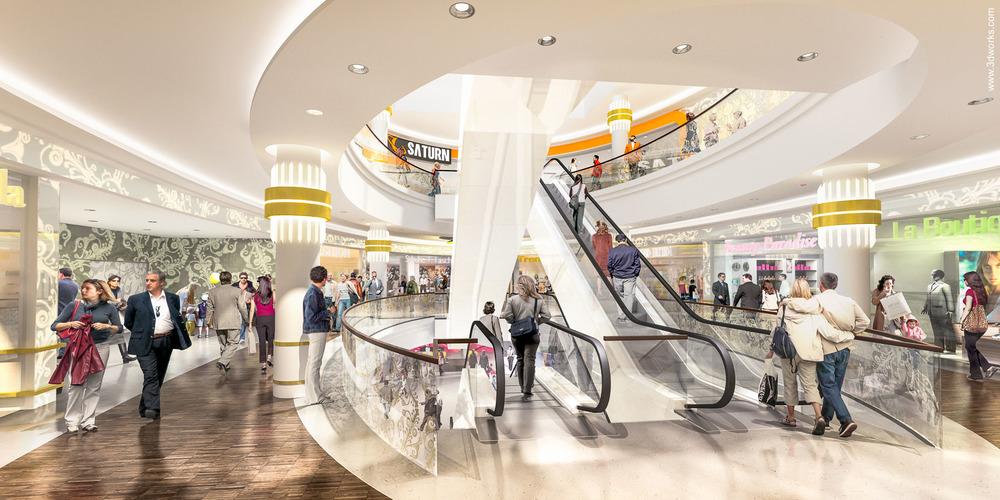 3D Visualisierung, Louisen Center, Bad Homburg - Kunde: Tenkhoff Properties