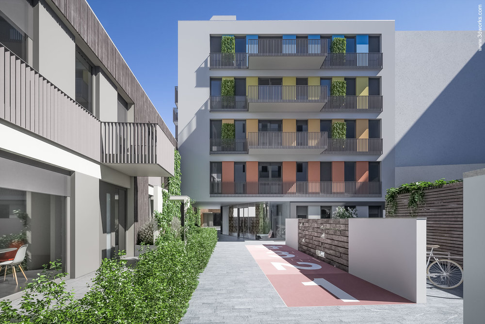 Architekturvisualisierung eines Bauvorhabens in Prenzlauer Berg, Berlin