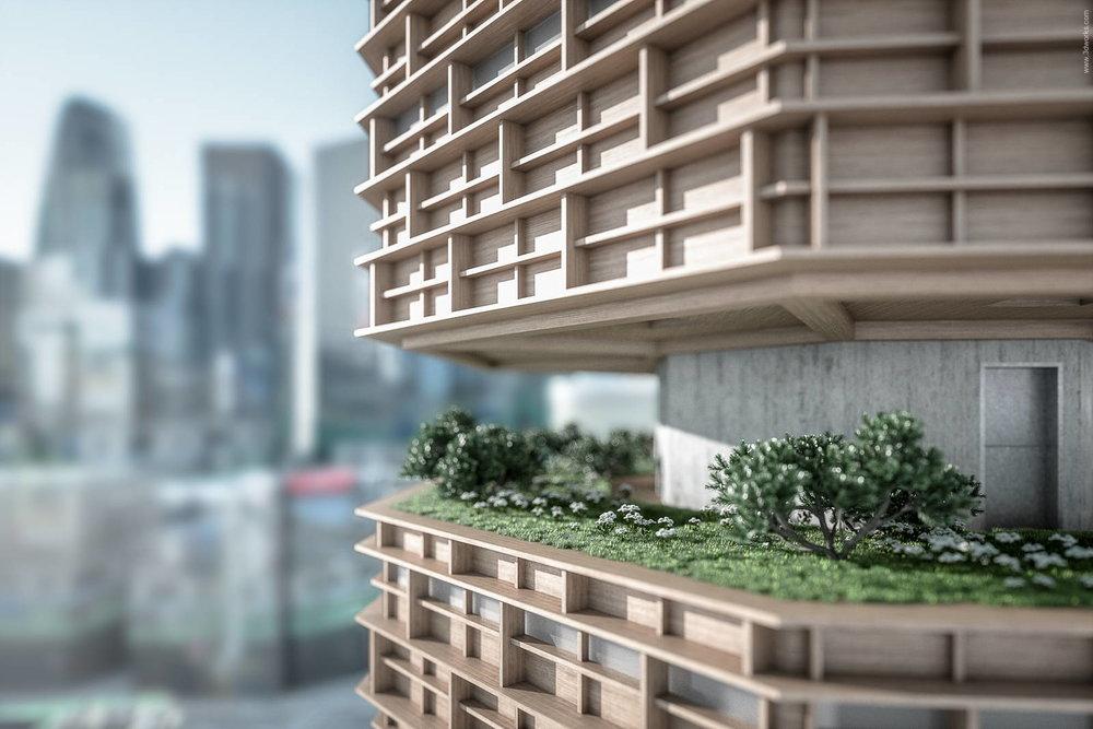 """""""Tokyo Vertical Cemetary"""" Renderings - Image 4"""