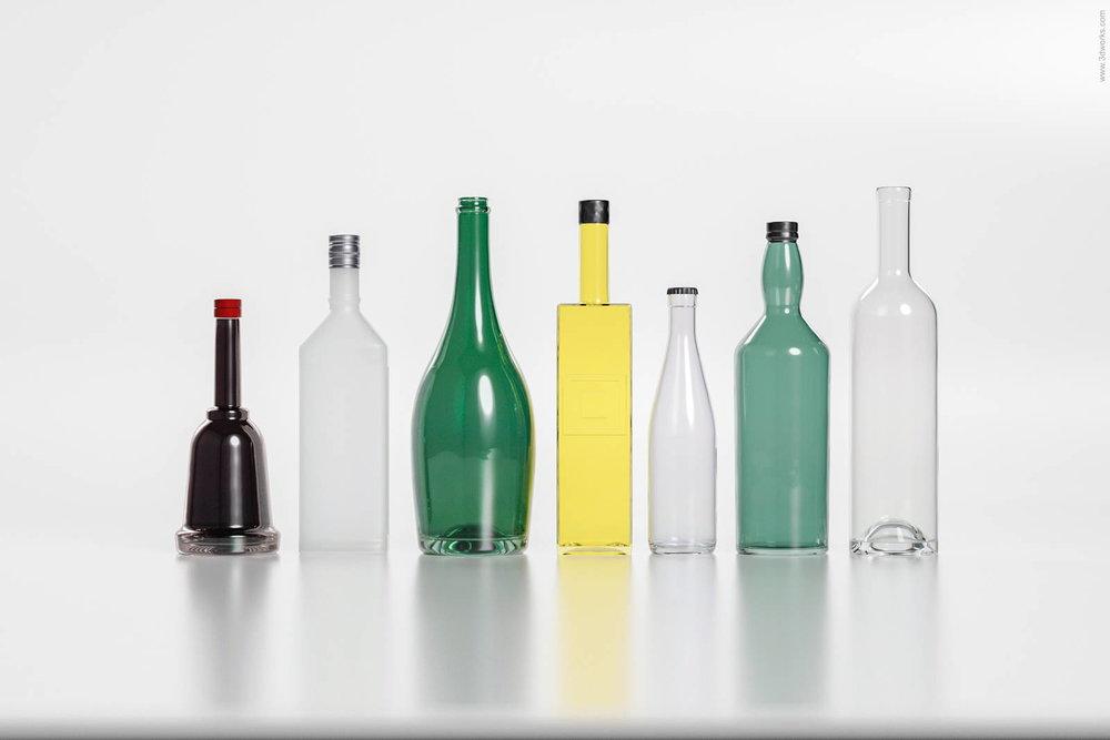 Produktvisualisierung, Glasflaschen 1