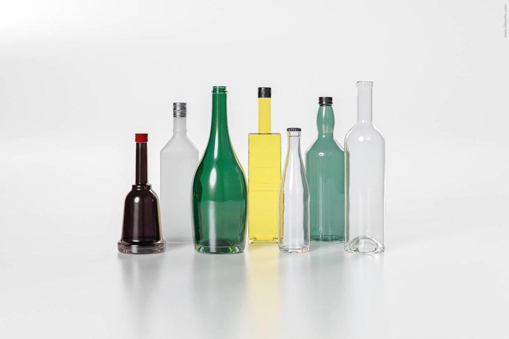 Produktvisualisierung, Glasflaschen 2