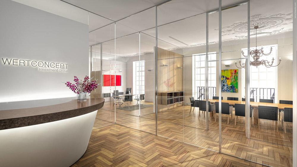 3D-Visualisierung, Büros am Kurfürstendamm - Wertconcept Investment Group