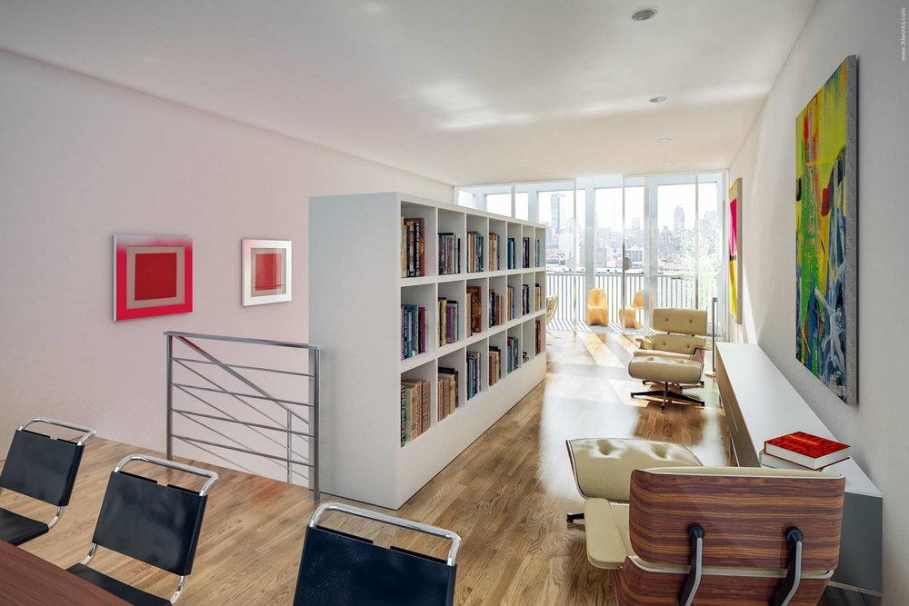 3D Visualisierung, Townhouse, Innenraumstudie