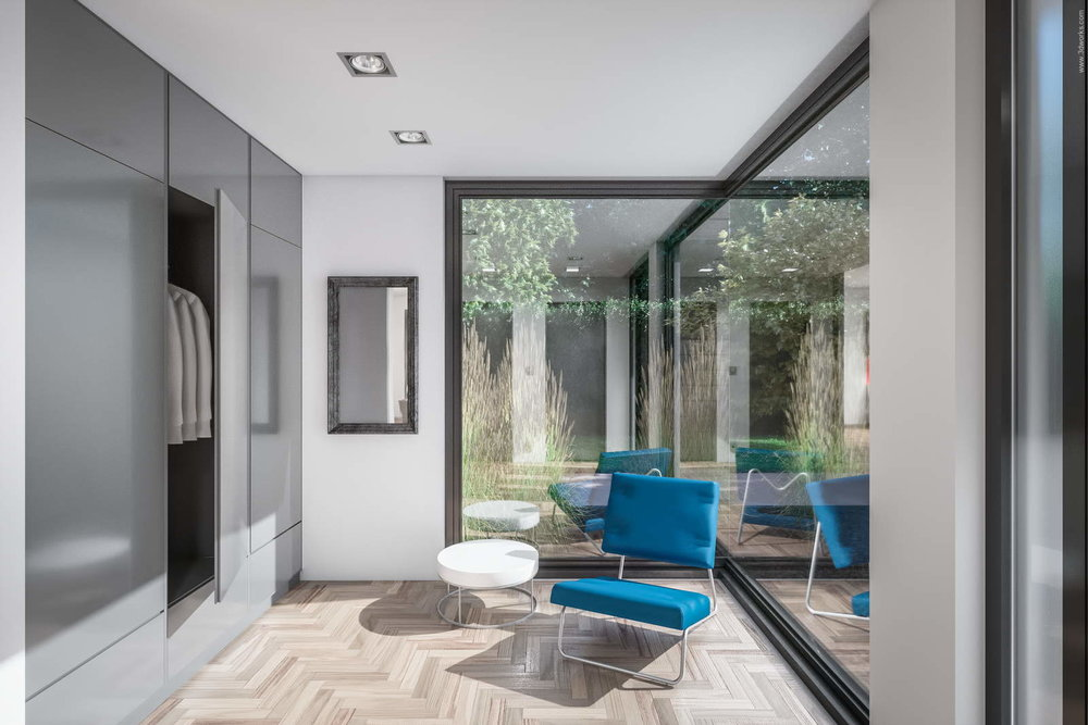 Architekturvisualisierung - Pool House Interior