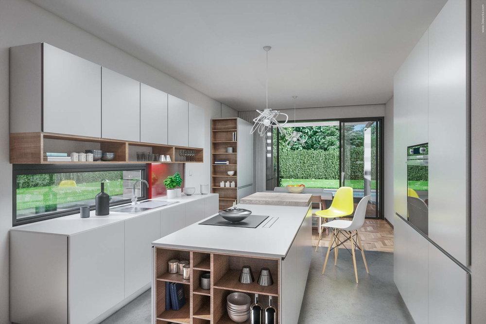 Visualisierung einer Küche - Pool House Kitchen Interior