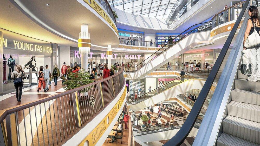 Architekturvisualisierung - Innenraum, Marienplatz Galerie Schwerin - Kunde: Tenkhoff Properties GmbH.