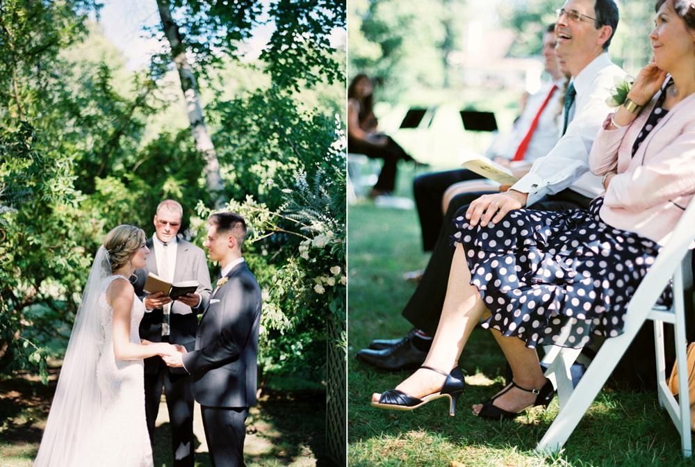 Happy parents at ceremony
