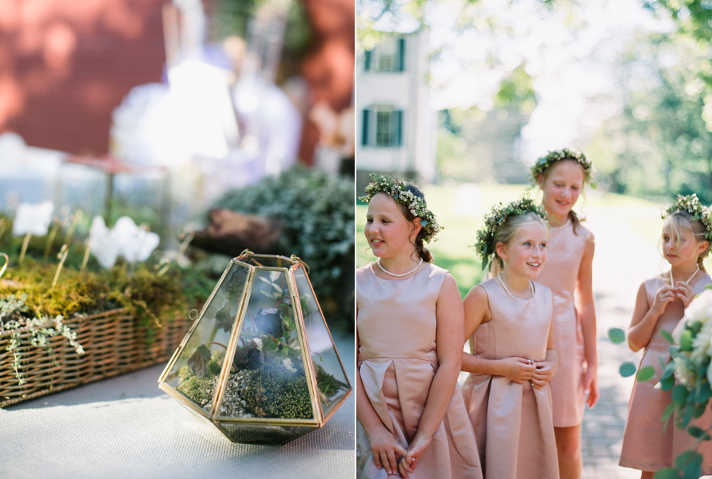 Cocktail details and flower girls