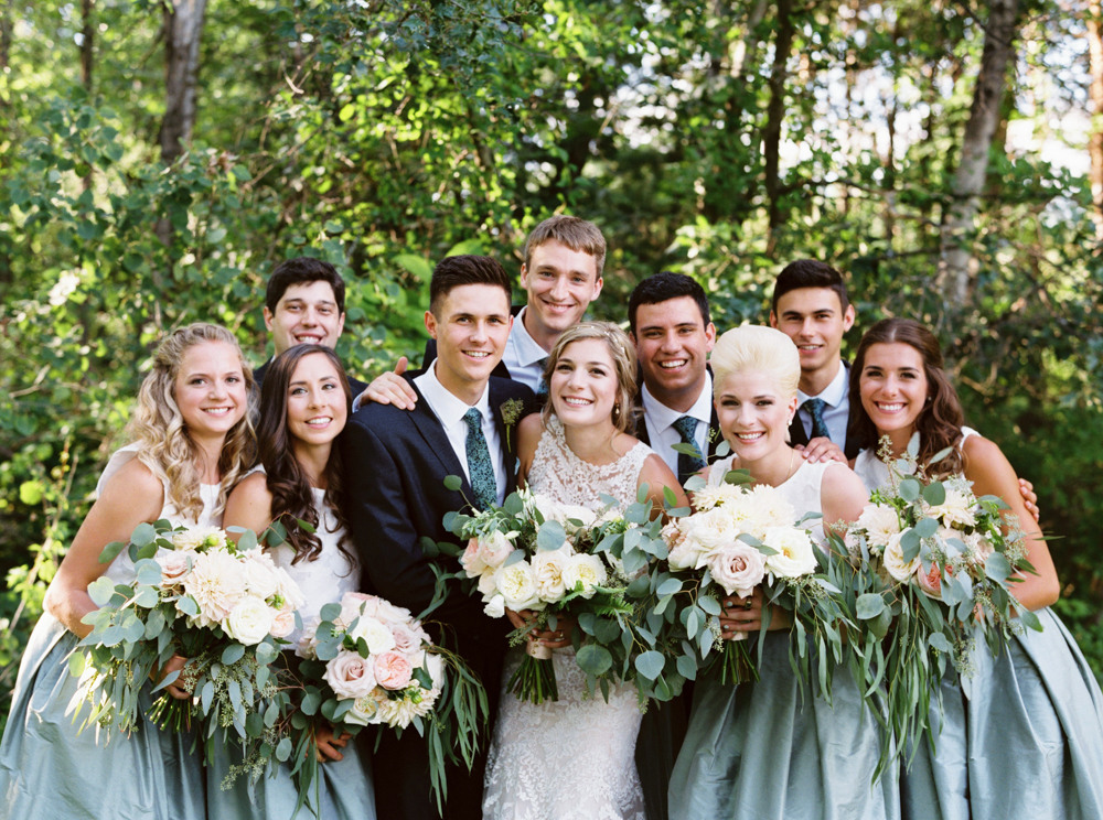 Elegant and unique bridal party
