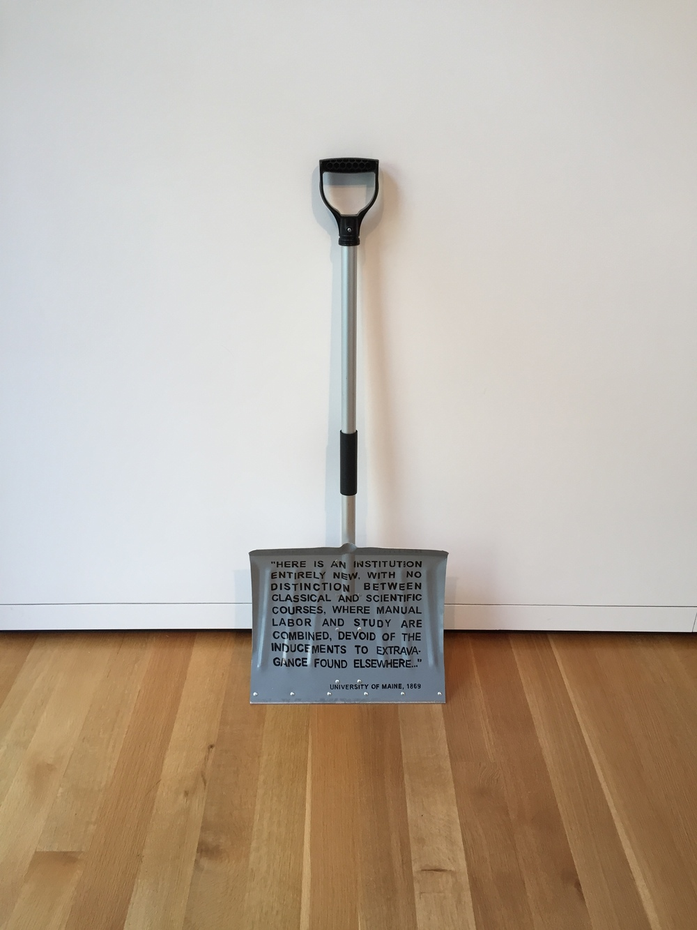 University of Maine College of Engineering Shovel by Buster Simpson