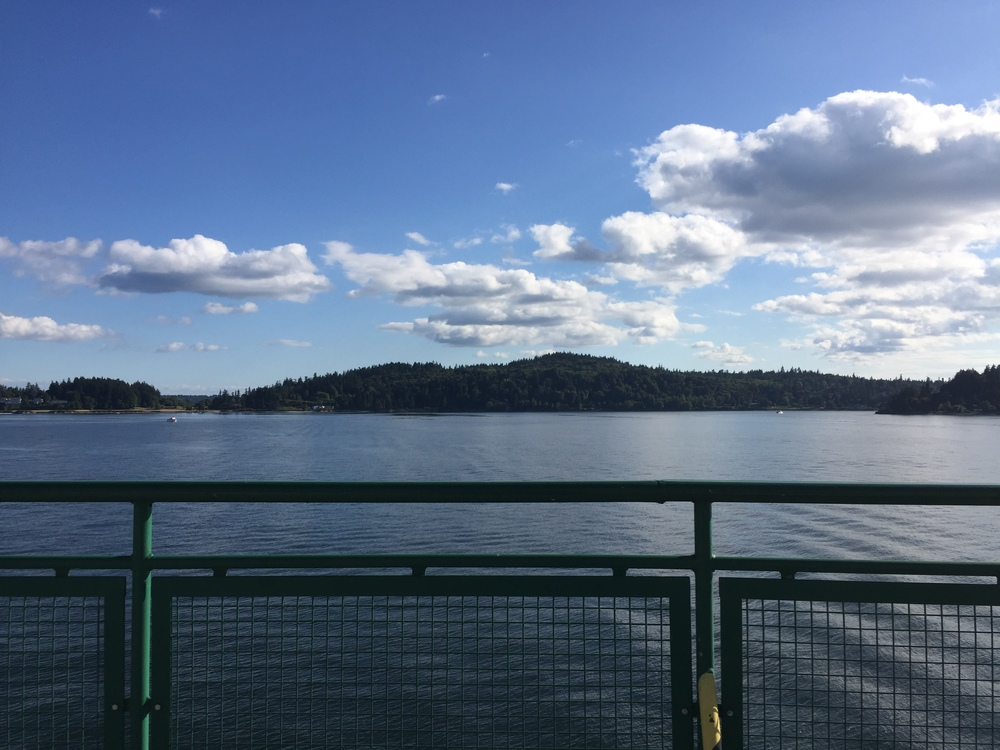 view from ferry to bainbridge island