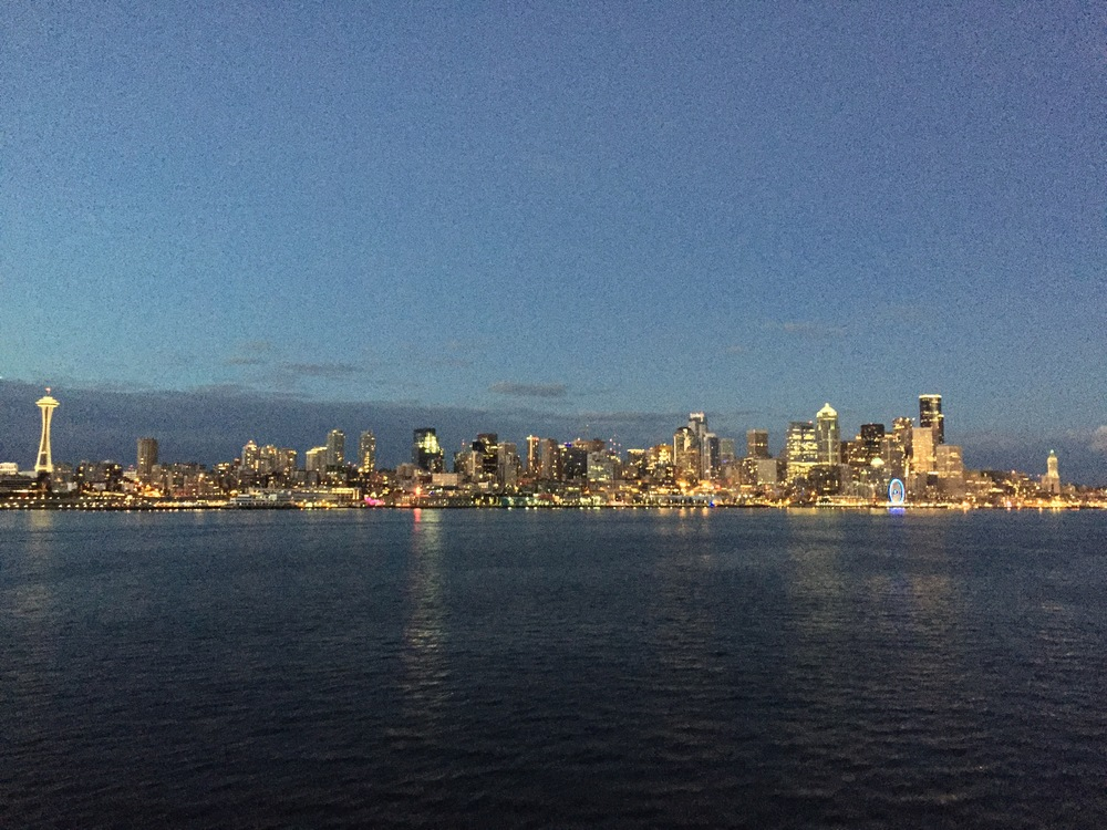 seattle skyline view from ferry