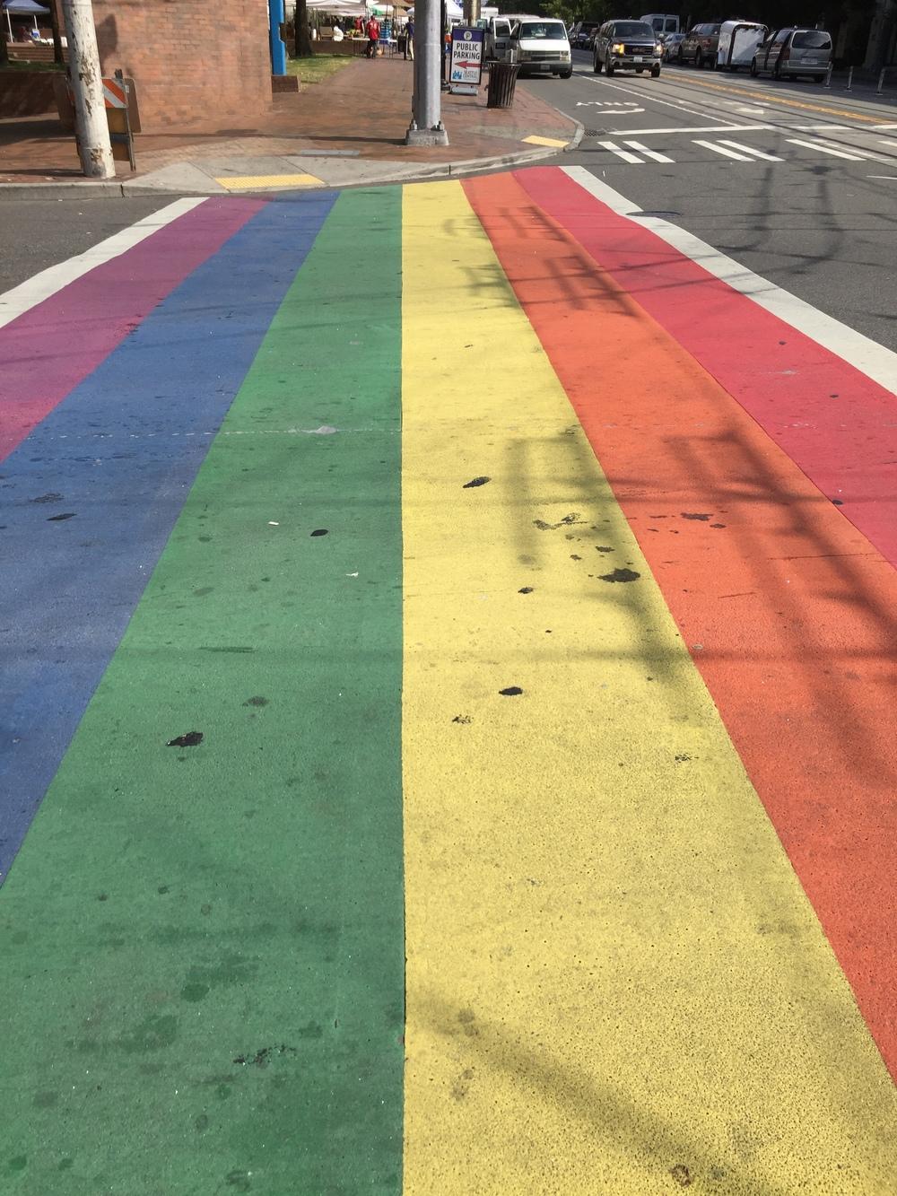rainbow crosswalk in capitol hill