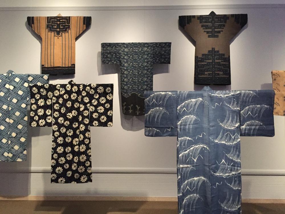 japanese kimonos with indigo dye