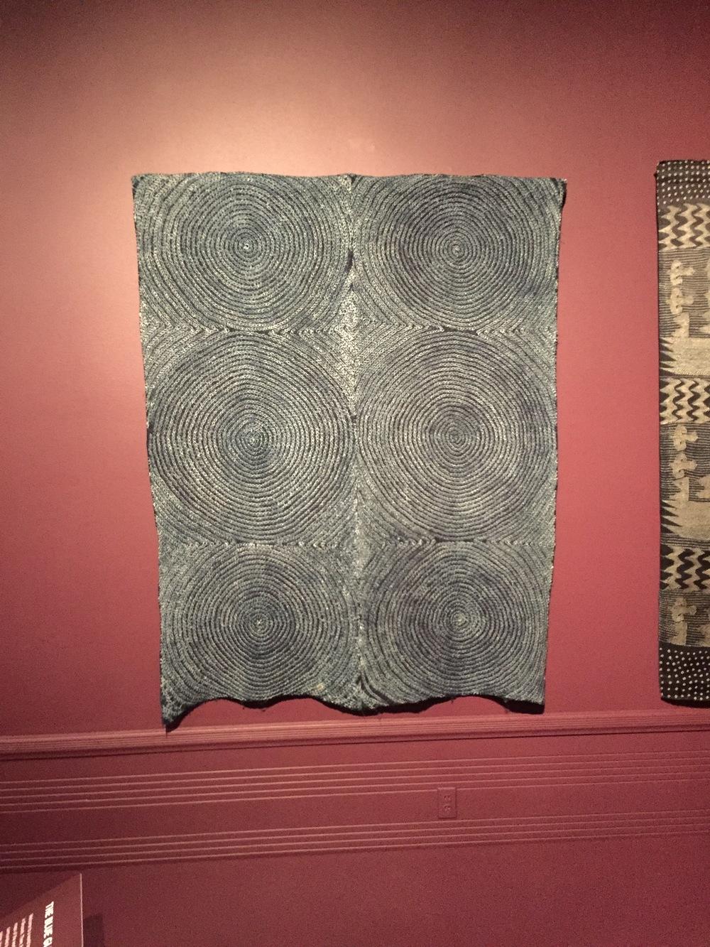 osu bamba (cloth with full moon), Nigeria & Yoruba