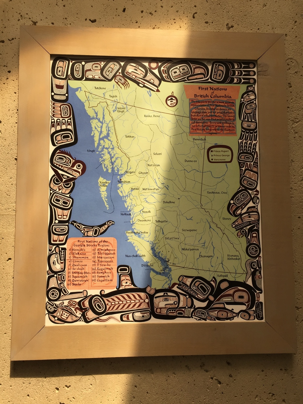 map of First Nations peoples.