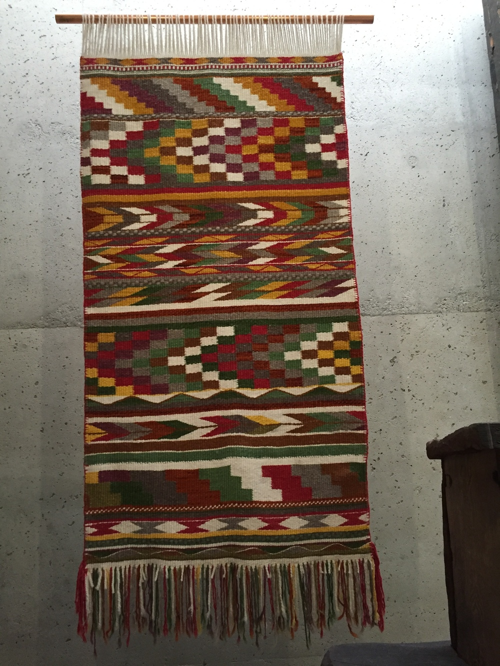 contemporary Musqueam weaving by Debra Sparrow & Robyn Sparrow