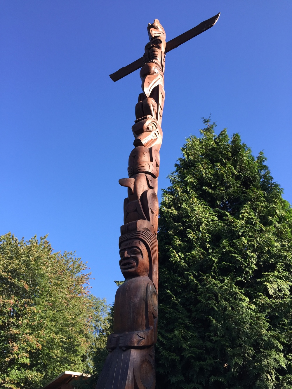 totem pole in stanley park.