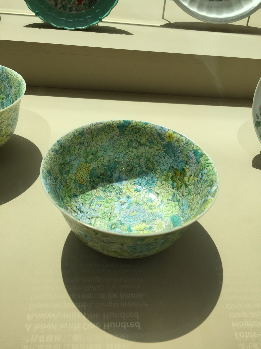 A bowl with One Hundred Flowers motif