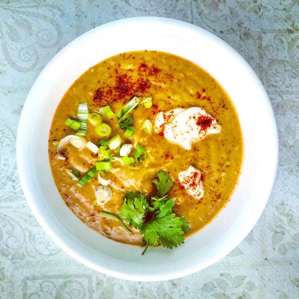 Thai peanut and potato soup