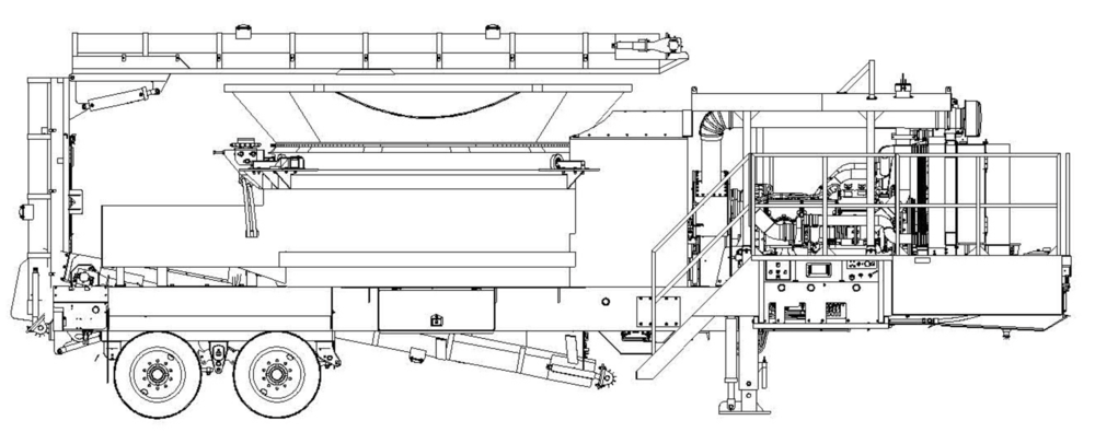 "1460B    STANDARD FEATURES:  Fluid coupling mill drive, radio remote control, tool box, engine cover, and super-screw belt lacing. All track mounted machines come with 24"" (600mm) wide pads (20"" and 32"" available on most models). Weights vary depending on options. Widths based on 600 mm tracks or transporter width. Diamond Z reserves the right to improve our products and make changes without notice. Actual products may vary."