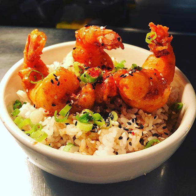 Tempura prawn Ten Don rice bowl. 🍤@broadcastgla
