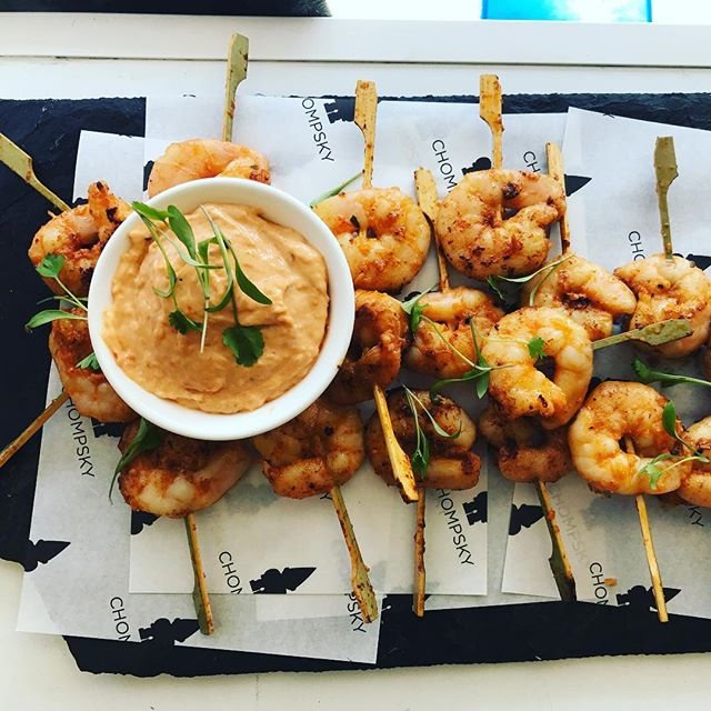 Jambalaya prawn canapés @thecowshedcrail tonight #wedding