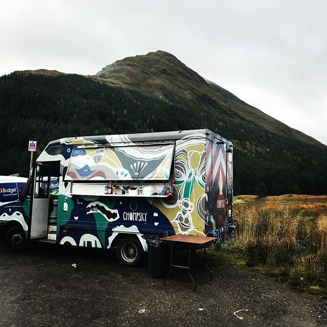 Into the wild again for film set location catering for @thelsproductions #scotland #restandbethankful #chompsky