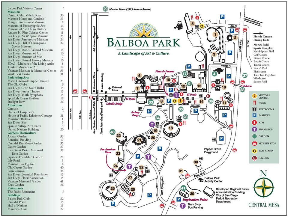 Balboa Park Map Garden & Park Information — Japanese Friendship Garden San Diego Balboa Park Map