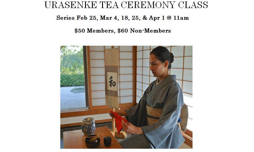 Urasenke Tea Class 2017