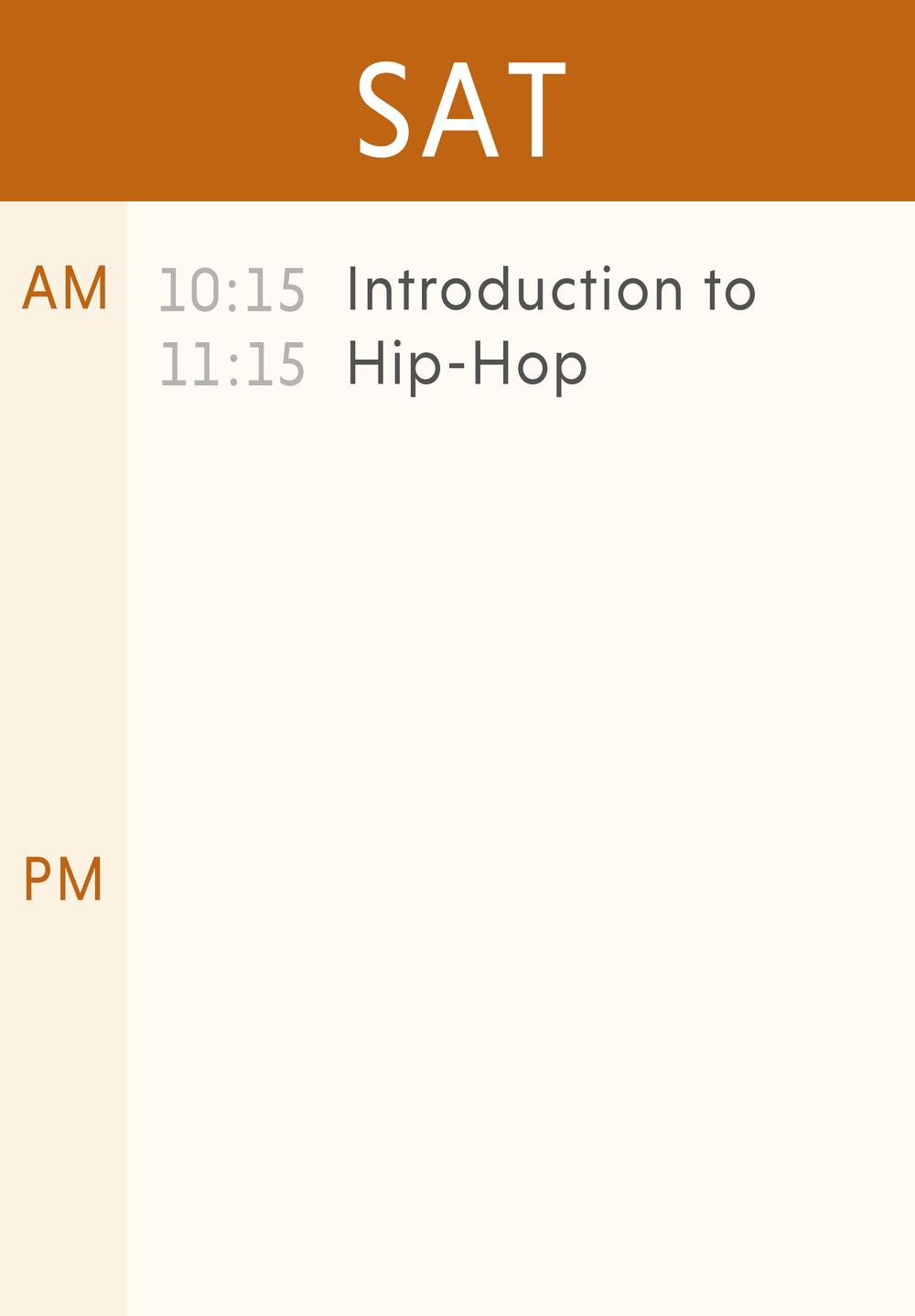 Weekly Classes-Saturday