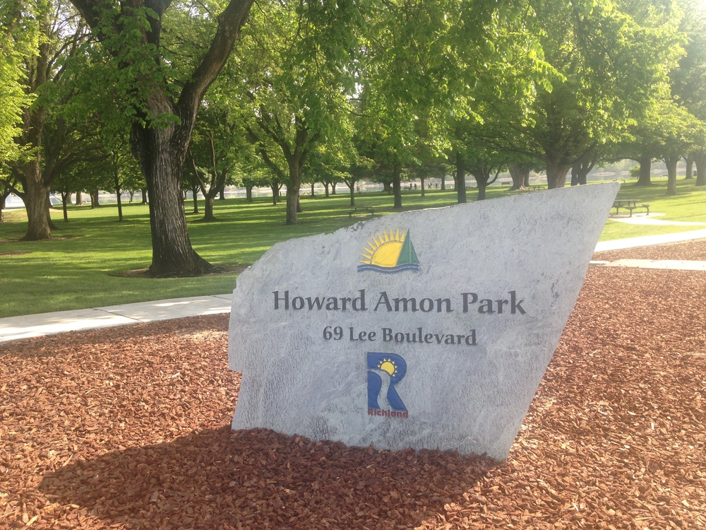 Stone in Howard Amon Park.JPG