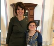 Cathy McMorris Rodgers with Melissa.