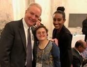 Senator Van Hollen & Ziky Ababiya with Melissa