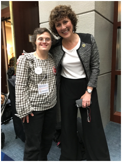 Self-Advocate Melissa Silverman and Delegate Shelly Hettleman (D, district 11)