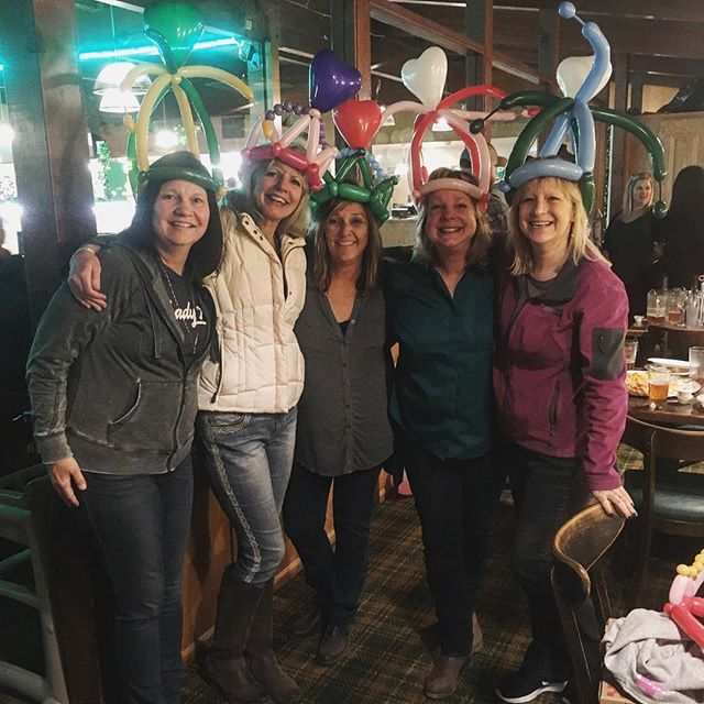 Possibly my favorite aspect about balloon art is that there is no age limit! These ladies made my night!! #balloonart #tuttiballooncreations #hats