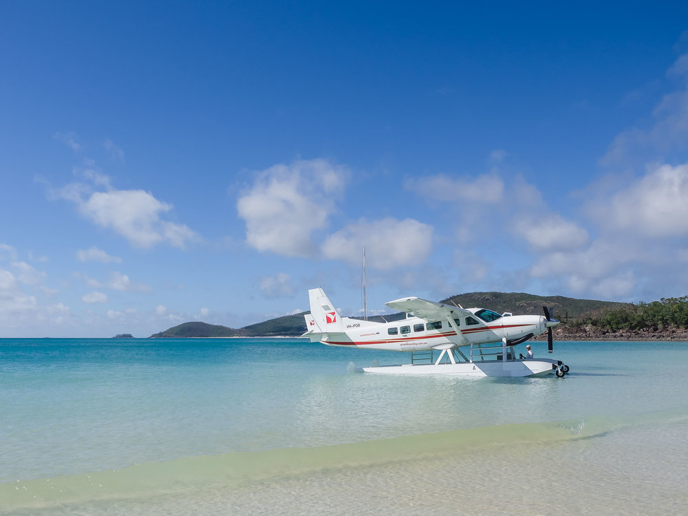 Landing right next to Whitehaven beach in a Seaplane. What an experience.