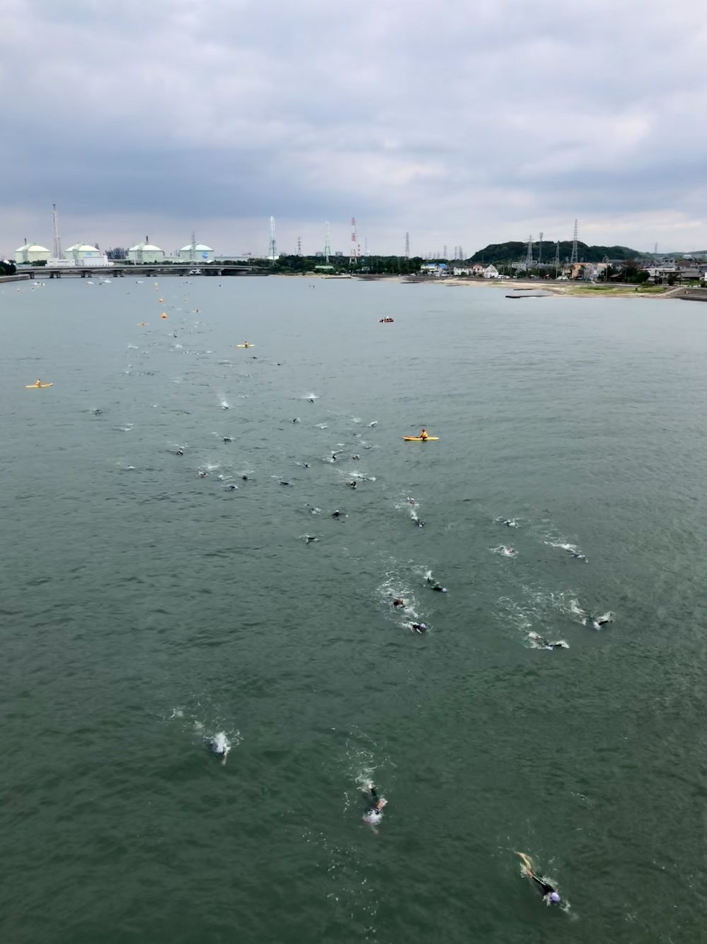 Ironman 70.3 Japan Swim (PC: Peaman)