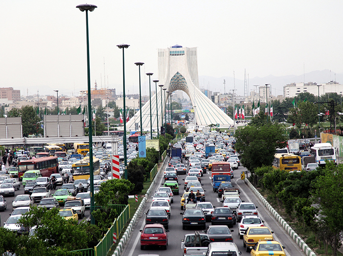 Peak hour traffic in Tehran. Photo by franx' via Flickr, via Creative Commons BY-NC 2.0 license. Click for original photo.