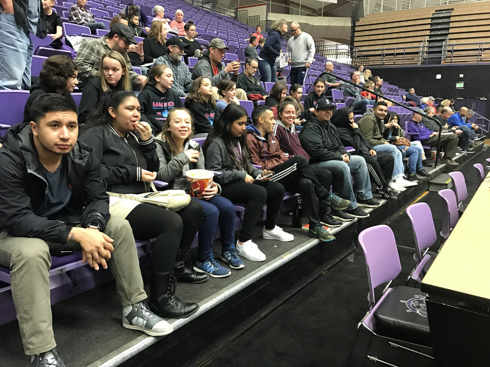 University of Portland Home Game - Our girls had a BLAST at our first event this winter!